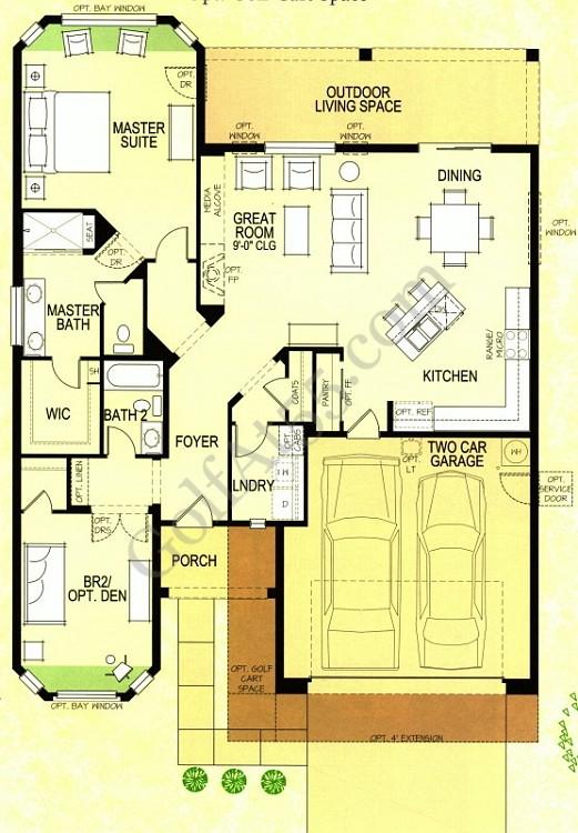 Arizona Home Design Idea Center: Robson Ranch Villa Floor Plans